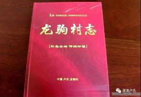 双龙湾镇《龙驹村志》正式发行